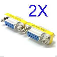 2 PCS Serial RS232 9-PIn DB9 Female to Female Gender Changer Adapter RS 232