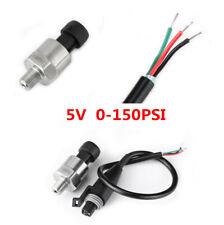 5 Volt Oil Fuel Pressure Sensor 150 PSI Electric Gauge Meter Sender For Oil Fuel
