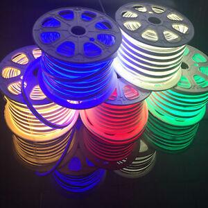 220V 240V  Flexible RGB led neon rope strip SMD 2835 5050 120leds/m bar light