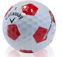 24 Golf Balls- Callaway Chrome Soft Truvis Red / White- AAAAA
