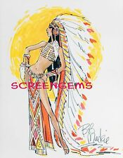 CHER photo costume sketch by Bob Mackie TV Sonny and Cher 1970s Half Breed 8x10