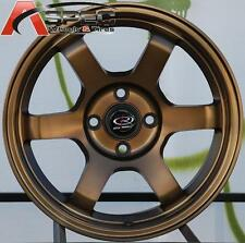 15X7 +38 ROTA GRID SPORT BRONZE 4X100 JDM HONDA ACURA SCION MAZDA LIGHT WHEELS