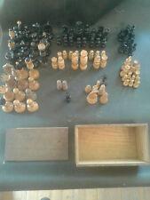lot de pièces de jeux d'echecs ANCIEN - pour pièces ou completer +boite ancienne