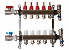 5 Loop 1 Stainless Steel Manifold For Radiant Heating For 12 Pex Tubing