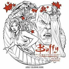 Buffy the Vampire Slayer: Big Bads & Monsters Adult Coloring Book (Paperback or