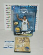 STEPHEN CURRY SIGNED AUTOGRAPHED MCFARLANE BASE FIGURE BAS COA T97093