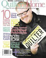 Quilter's Home Magazine Vintage Rick Rack Sewing Patchwork Symbols Scissors 2009