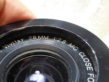 VIVITAR MC 28mm f2.8 CLOSE FOCUS LENS - NIKON AI s FIT - 'EXCELLENT' ref 12