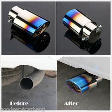 Colourful Chrome Stainless Steel Car Rear Round Exhaust Pipe Tail Muffler Tip