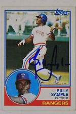 BILLY SAMPLE Texas Rangers Yankees Autograph 1983 TOPPS #641 Signed Card 16E
