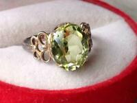 Vintage Soviet Russian Woman's Gilt Sterling Silver 875 Ring Jewelry Size 7