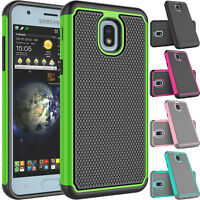 For Samsung Galaxy J3 Orbit/Star/2018 J337 Phone Hybrid Rubber Hard Case Cover