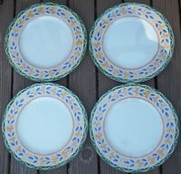 LOT  of  4   PTS  INTERIORS   SALERNO  Dinner Plates  about 10 3/4 inches across