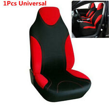 Soft & Thick Car Front  Seat Covers protector X1 Red Fit High-Back Bucket Seats