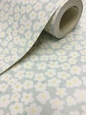New Holden Decor  - Daisy - Duck Egg - Mini Flowers - Floral Wallpaper - 11912