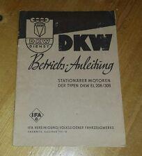 DKW Betriebs-Anleitung Stationärer Motoren  IFA