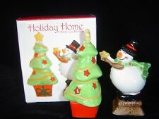 "Holiday Home By Fitz & Floyd ""Holiday Wishes"" Salt & Pepper Set"