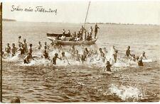 Orig. Foto-AK FUHLENDORF /BARTH /Pommern Boot, Kinder baden 1925