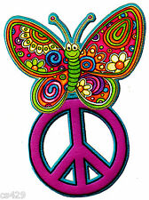 """6.5"""" PEACE SIGN BUTTERFLY  FLOWERS WALL SAFE STICKER CHARACTER BORDER CUT OUT"""