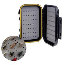 Waterproof Portable Fly Fishing Lure Bait Trout Flies Storage Box Case Container