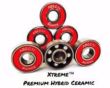 8 Pack XTREME ABEC 11 REDS PREMIUM HYBRID CERAMIC BEARINGS RS SKATEBOARD SCOOTER
