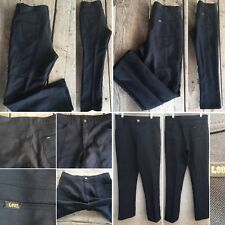 "e69a1eec6 Vintage Lee Jeans Polyester Pants Black 33"" Waist 70s 1970s 5 Pocket Style"