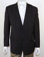 EMILIO YUSTE Spain Gray Glen Plaid REDA Super 120's Wool 2-Btn Sportcoat 44L