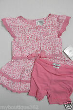 GUESS BABY GIRLS FLORAL BUTTON FRONT DRESS & SHORT SZ. 3/6 MOS NNEW NWT