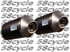 2008-2011 ZX14 Leo Vince Unlimited DUAL Slip On Exhaust System Black 2009 2010