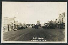 SD Kadoka RPPC 1937 MAIN STREET Dacotah Hotel TOURIST CAFE Grain Elevator