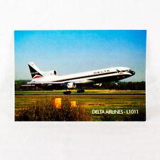 NUOVO Delta Airlines Lockheed L1011 Tristar Aeromobili Cartoline Top Qualità