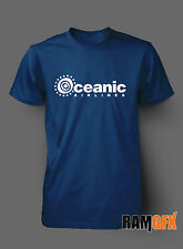 OCEANIC AIRLINES LOST TV SERIES NOVELTY BNWT ADULT T SHIRT S-XXL PERSONALISED