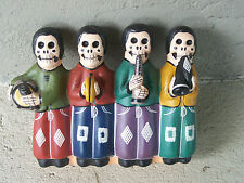 Clay Day of the Dead Skeleton Musical Quartet in a Row - Peru