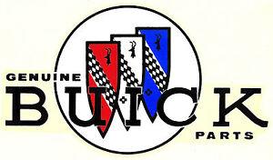 Vintage NOS Genuine Buick Parts Decal Window Glass Dealer Sticker Logo Emblem GS