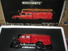 1.43 MINICHAMPS MAGIRUS-DEUTZ MERKUR TLF 16 FIRE ENGINE 1959 RARE OLD SHOP STOCK