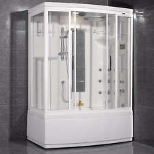 "60"" x 36"" ARIEL ZAA208  RIGHT AMERISTEAM STEAM SAUNA SHOWER & TUB WITH WHIRLPOOL"