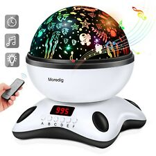 Musical Night Light, 360 Rotating Star Lamp Baby Musical Lamp with Rechargeable