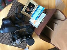 2 Canon Ae-1 35mm Film Cameras with accessories