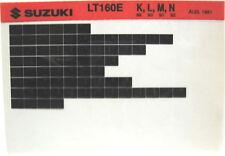 Suzuki LT160E 1989 1990 1991 1992 Parts Catalog Microfiche s489