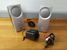 Bose Companion 2 Computer Multimedia Speakers System Black-Silver W/ Cords & AC