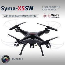 Black Syma X5SW Wifi RTF 2.4G 4CH RC quadcopter Camera Drone with HD Camera FPV