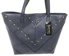 23c217eb69 Womens Handbag DESIGNER Bueno Collection Shoulder LG Sized Navy Gold Studs