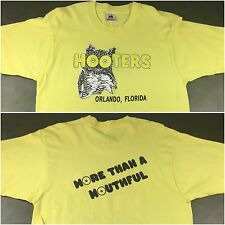 Vintage Mens 90s Hooters Restaurant Orlando Florida More Than A Mouthful T-Shirt