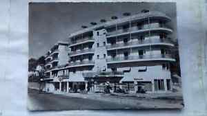 Vintage postcard,Albergo Minerva Hotel,1950s, Lugano,1957,Whitby,posted