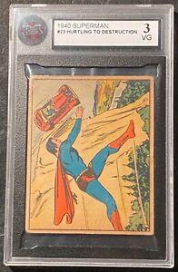 1940 Superman #23 Hurtling To Destruction KSA 3 VG !  RARE !