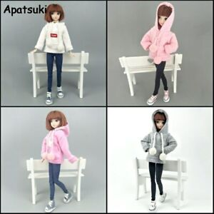 """Fashion Doll Clothes Sweatshirt For 11.5"""" Doll Coat Outfits Pants Canvas Shoes"""