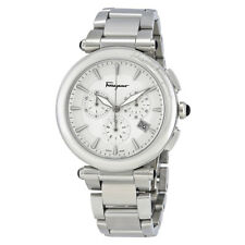 Ferragamo Idillio Silver Dial Mens Chronograph Watch FCP030017