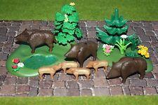Playmobil Wildschweine   Zoo  Top Zustand