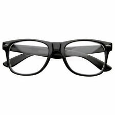 Fashion Retro Unisex Mens Womens Black Clear Lens Clark Kent Nerd Geek Glasses