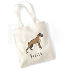 Personalised 'Boxer Dog' Canvas Tote Bag- GIFT FOR PET DOG OWNER